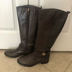 Tory Burch Riding Boots-Brown